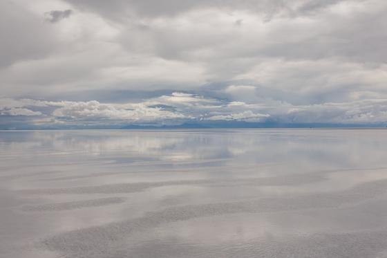Landschaft des Salar de Uyuni, Bolivien